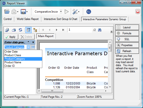 Click to view The Report Viewer Pro 1.1.20.32 screenshot